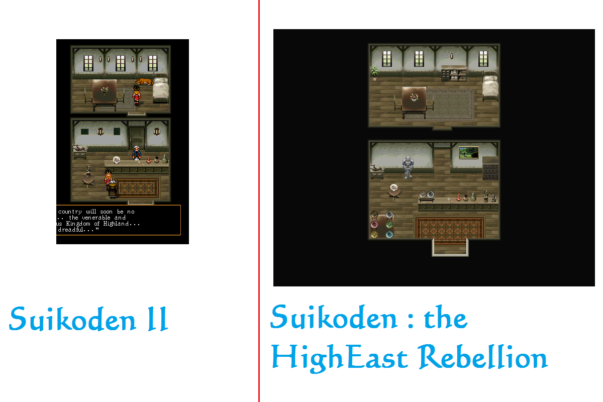 SHER ou Suikoden - The HighEast Rebellion Comparaison_Expertise