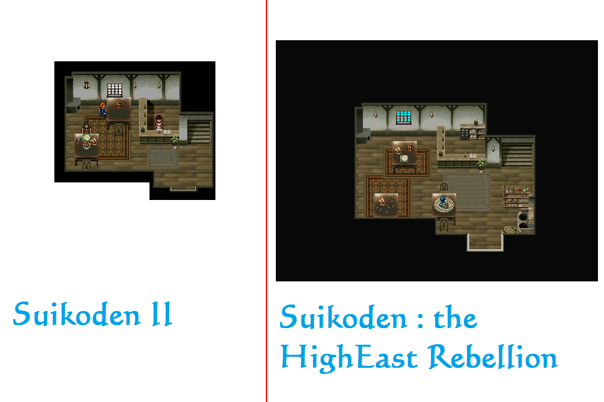 SHER ou Suikoden - The HighEast Rebellion Comparaison_Sajah_auberge_RDC