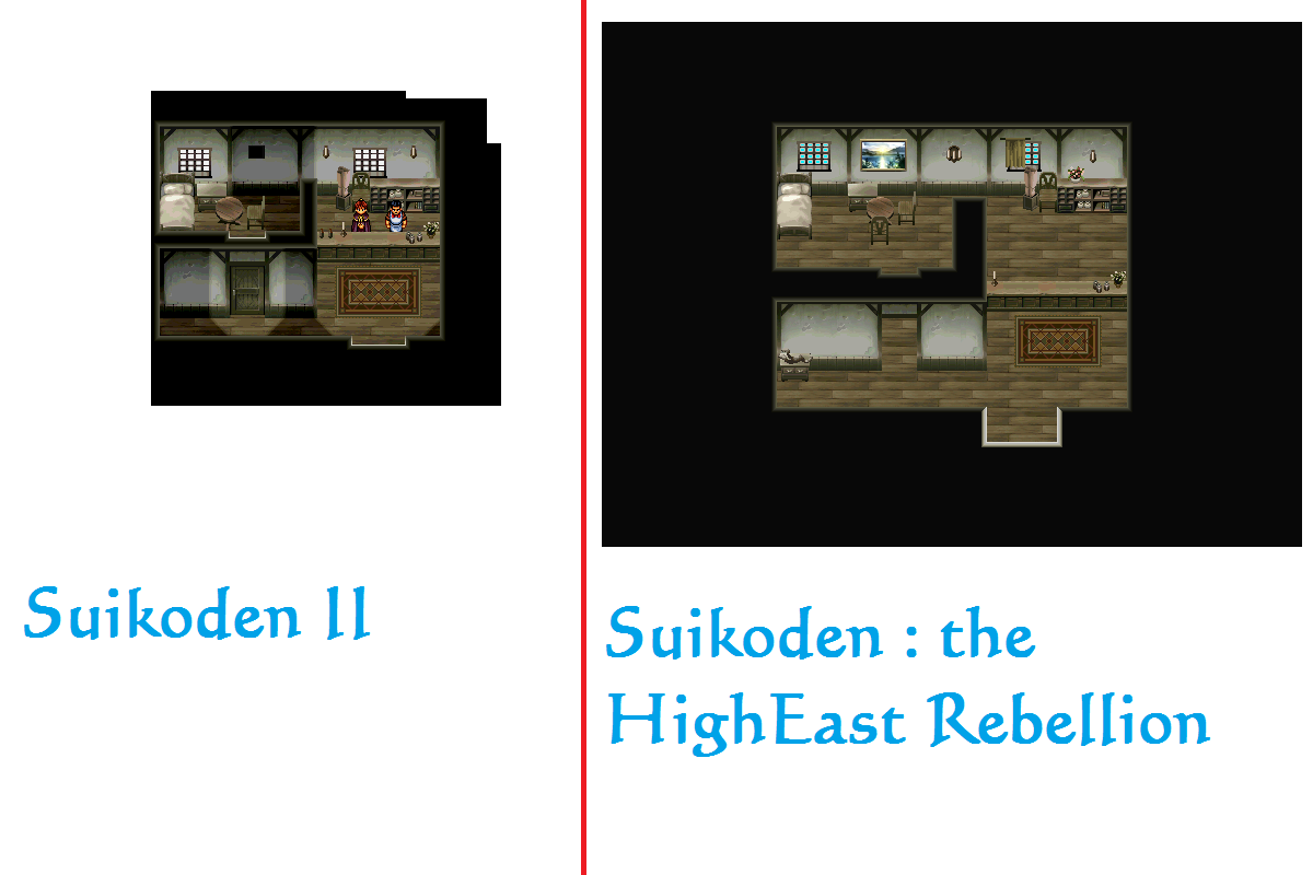 SHER ou Suikoden - The HighEast Rebellion Comparaison_Sajah_magasins